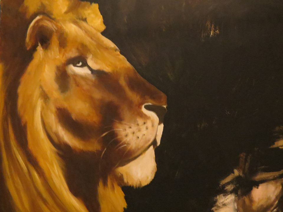 Lion Painting animal paintings by Amanda Grafe
