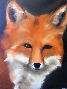 Fox Painting Animal Art by Amanda Grafe