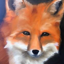 Fox Painting Animal Art by Amanda Grafe