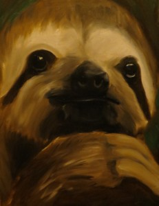 Sloth painting animal paintings by Amanda Grafe