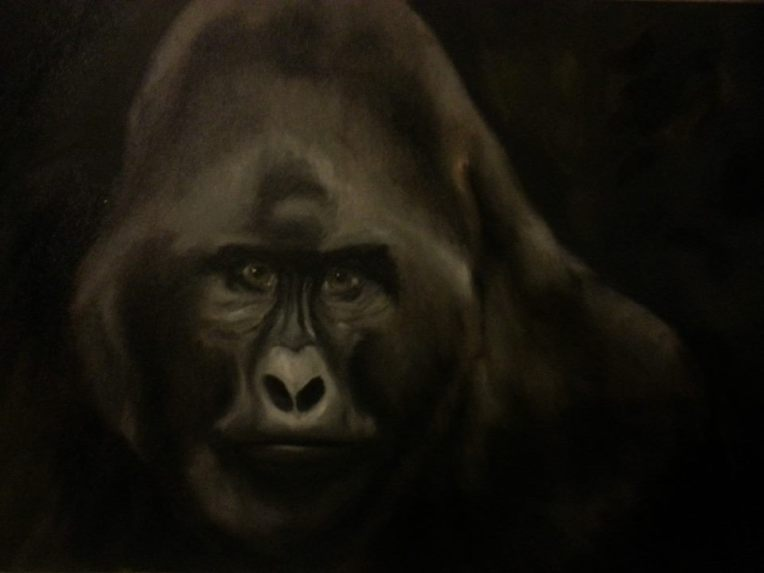 Amanda Grafe Gorilla Animal Oil Paintings