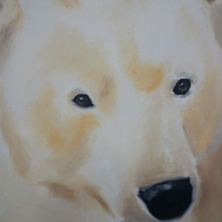 """Polar Bear,"" Oil (SOLD)"