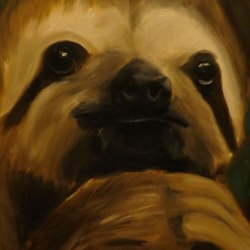 """Sloth,"" Oil (SOLD)"